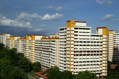 Singapore housing architecture Royalty Free Stock Photography