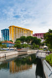 Singapore Housing and Development Board, the Rochor Centre along Royalty Free Stock Images