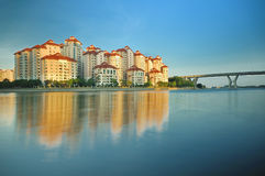 Singapore Housing Estate. Tanjong Rhu is a residential neighbourhood in Kallang in the south-eastern part of Singapore. From being a shipyard in the late 1800s Royalty Free Stock Photography