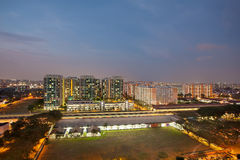 Singapore Housing Estate by MRT Train Station Stock Image