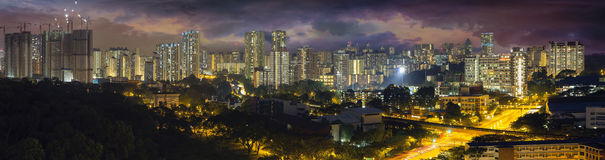 Singapore Housing Estate with Stormy Sky Stock Image