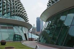 Singapore i stadens centrum affärsarkitektur Arkivbild