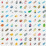 100 singapore icons set, isometric 3d style. 100 singapore icons set in isometric 3d style for any design vector illustration Royalty Free Stock Photography