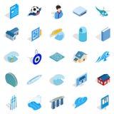 Singapore icons set, isometric style. Singapore icons set. Isometric set of 25 singaporet vector icons for web isolated on white background Stock Photography
