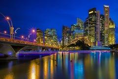 Singapore illuminated Royalty Free Stock Photography