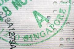 Singapore immigration Royalty Free Stock Image