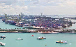 Singapore industrial port Stock Images