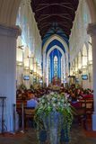 Singapore, interior of St. Andrew`s Cathedral. St. Andrew`s Cathedral is the Anglican Cathedral in Singapore, the largest Cathedral in the country. The Royalty Free Stock Images