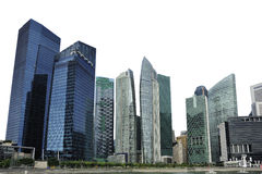 Singapore isolated skyline Royalty Free Stock Photo