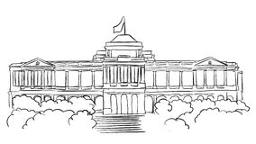 Singapore Istana Presidents residence Sketch Stock Photography