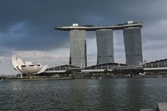 Singapore Jachthaven-baai stock afbeelding