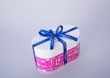 Singapore - jan 04 2016 : Baskin Robbins ice cream box on the ba Royalty Free Stock Photo