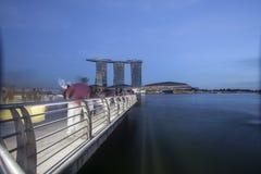 SINGAPORE-20 JAN.2017:the night view of Marina Bay Sands Resort Royalty Free Stock Photo