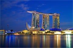 SINGAPORE-20 JAN.2017:the night view of Marina Bay Sands Resort Stock Photography
