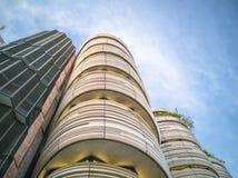 SINGAPORE-26 JANUARI 2017: Universitetsområdesikt i Nanyang teknologiska Univ Arkivbilder