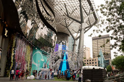 Singapore-January 2016,Christmas decoration on Orchard Road in S Royalty Free Stock Photography