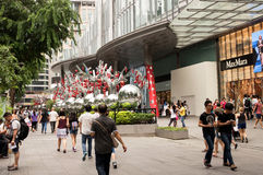 Singapore-January 2016,Christmas decoration on Orchard Road in S Royalty Free Stock Photo