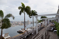 Marina bay sands pool Stock Images