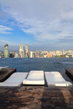 Infinity swimming pool in Singapore Royalty Free Stock Images