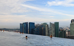 Marina bay sands pool Stock Photography