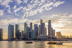 Singapore - January 07, 2017: Singapore Cityscape Financial buil Royalty Free Stock Photos