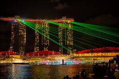 View of the Spectra Light and Water show royalty free stock photo