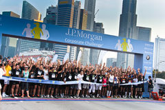 Singapore JP Morgan Corporate Challenge 2011 Stock Fotografie