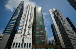 Finance district in Singapore. Singapore - Jul 3, 2015. Finance buildings at business district in Singapore. Singapore is the third-largest financial centre and Stock Images