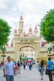 Singapore 20 Juli; 2015 Kasteel in Universele studio Singapore Royalty-vrije Stock Afbeeldingen