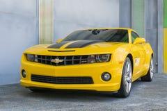 SINGAPORE, 20 JULI: 2015 Nieuw ontwerp Chevrolet Camaro Stock Foto's