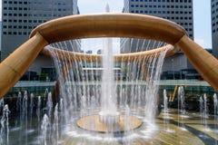SINGAPORE JULI 11, 2016: Springbrunn av rikedom, den största stilsatsen Royaltyfria Foton