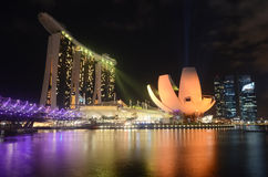 SINGAPORE- JULY 9: The 6.3 billion dollar (US) Marina Bay Sands Hotel Royalty Free Stock Photos