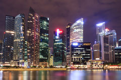SINGAPORE-JULY 6 : Building at Marina Bay on July  6, 2013 in Si Royalty Free Stock Photography