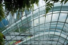SINGAPORE - JULY 23rd, 2016: Inside of the Cloud Forest Dome - Garden by the Bay Royalty Free Stock Photo