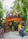 SINGAPORE - July 20 2015: Tourists and theme park visitors Attra. Ction in Universal Studios at Singapore in Sentosa island, Singapore Stock Photography