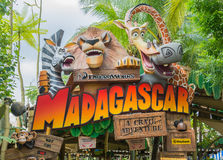 SINGAPORE - July 20 2015: Tourists and theme park visitors Attra Stock Photos
