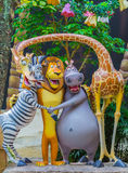SINGAPORE - July 20 2015: Tourists and theme park visitors Attra. Ction in Universal Studios at Singapore in Sentosa island, Singapore Royalty Free Stock Image