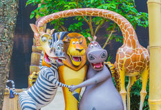 SINGAPORE - July 20 2015: Tourists and theme park visitors Attra. Ction in Universal Studios at Singapore in Sentosa island, Singapore Royalty Free Stock Images