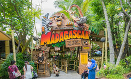 SINGAPORE - July 20 2015: Tourists and theme park visitors Attra Royalty Free Stock Photo