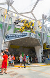 SINGAPORE - JULY 20,2015 : TRANSFORMERS The Ride: The Ultimate 3 Royalty Free Stock Photos