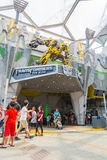 SINGAPORE - JULY 20,2015 : TRANSFORMERS The Ride: The Ultimate 3 Stock Photos