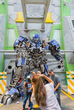 SINGAPORE - JULY 20 ,2015 : TRANSFORMERS The Ride: The Ultimate Royalty Free Stock Image