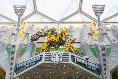 SINGAPORE - JULY 20,2015 : TRANSFORMERS The Ride: The Ultimate 3 Royalty Free Stock Image