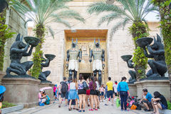SINGAPORE - July 20 2015: Visitors walking at the Ancient Egypt Stock Image