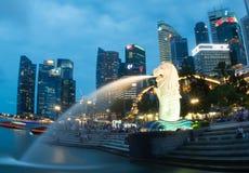 SINGAPORE-JUN 14日2015年:与8的新加坡市都市视图 5m高 图库摄影