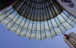 Futuristic roof of shopping mall in Singapore Stock Images