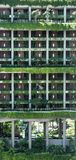 Singapore-JUN 03 2017: PARKROYAL hotelvoorgevel in Singapore stock afbeelding