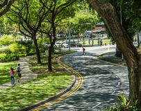 SINGAPORE-JUN 4 2017:Singapore shadow street scape view stock photography