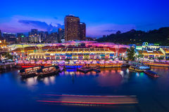 Singapore - June 22, 2012 - Clarke Quay the most famous place fo Royalty Free Stock Images