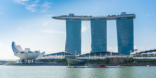 SINGAPORE-JUNE 19: The Marina Bay Sands Resort Hotel Stock Images